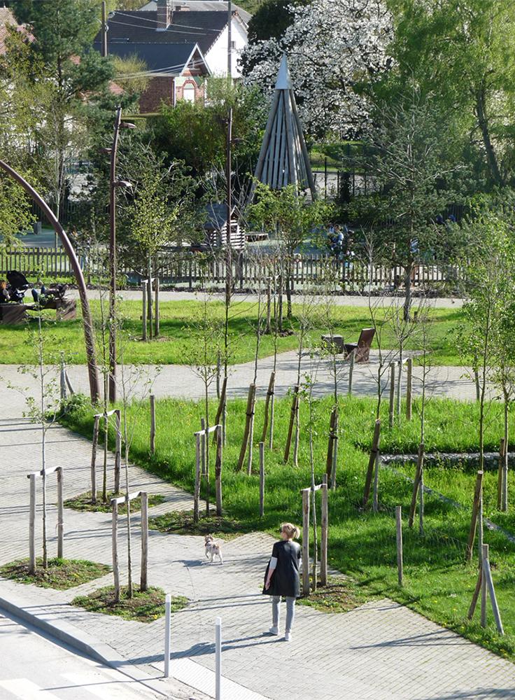 Espaces publics des Jardins d'Intercampus