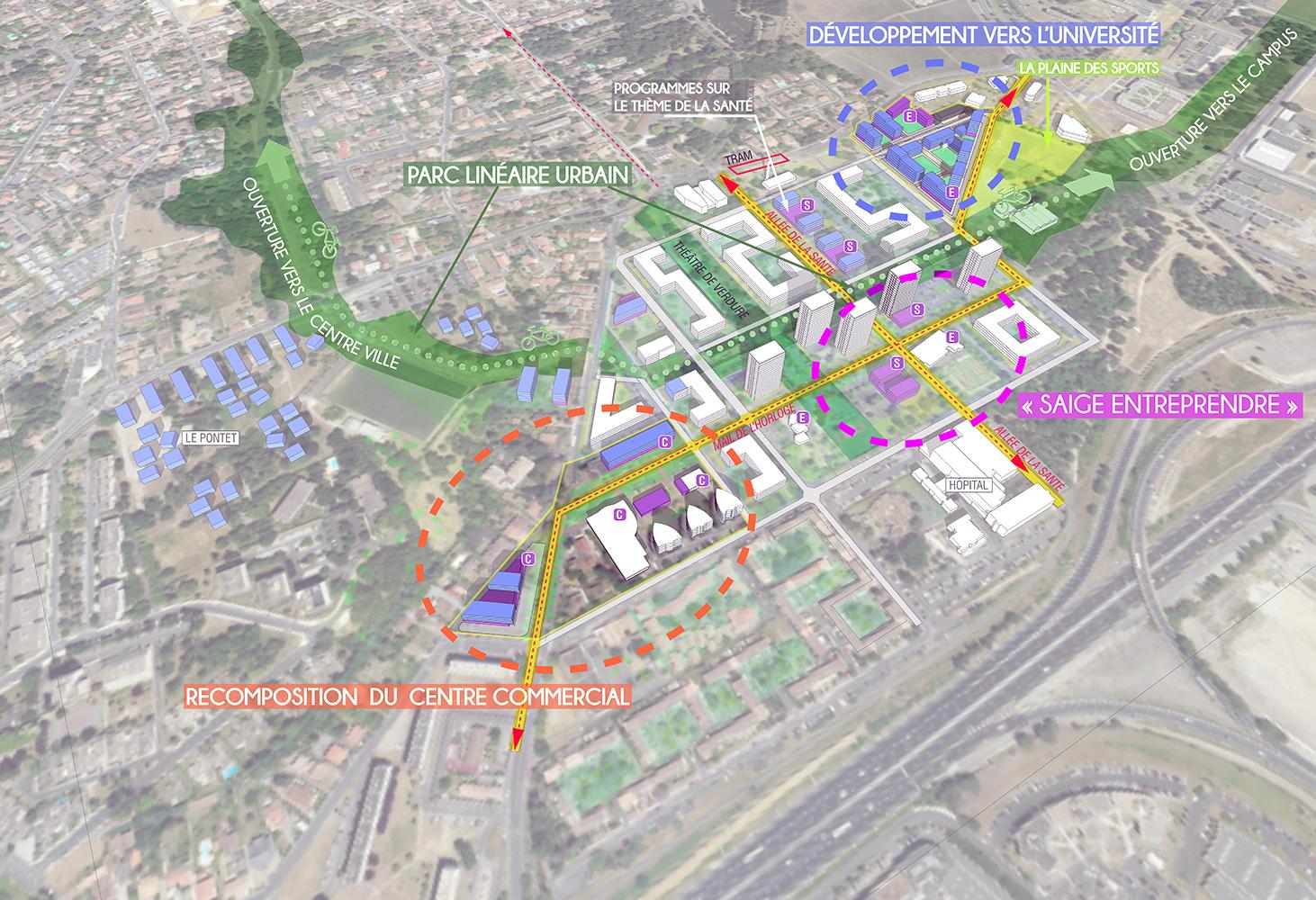 Etude stratégique préalable au renouvellement urbain du quartier de Saige